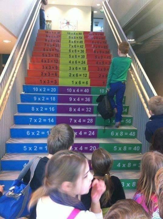 scalinata tabelline