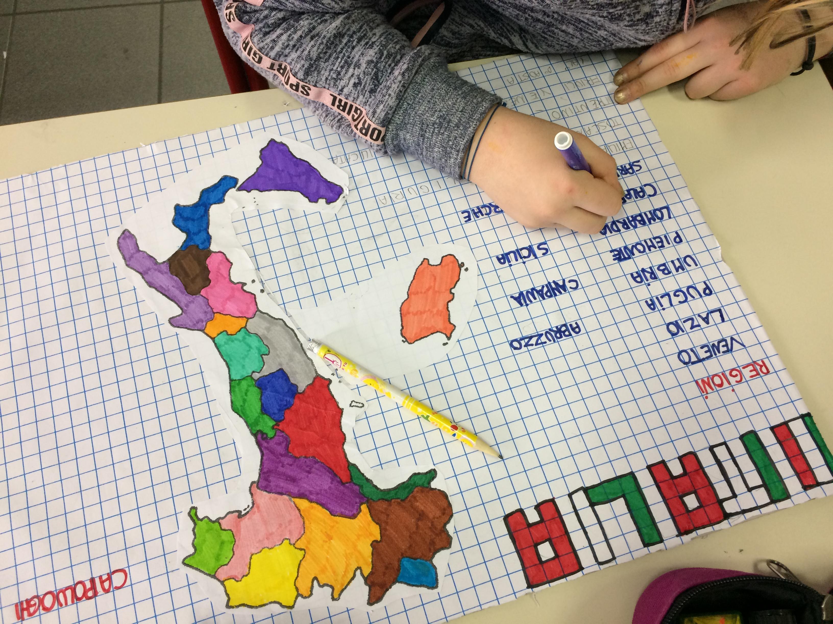 Cartina D Italia Con Capoluoghi Di Regione.Sapientino Regioni E Capoluoghi Classe 5a Maestramarta