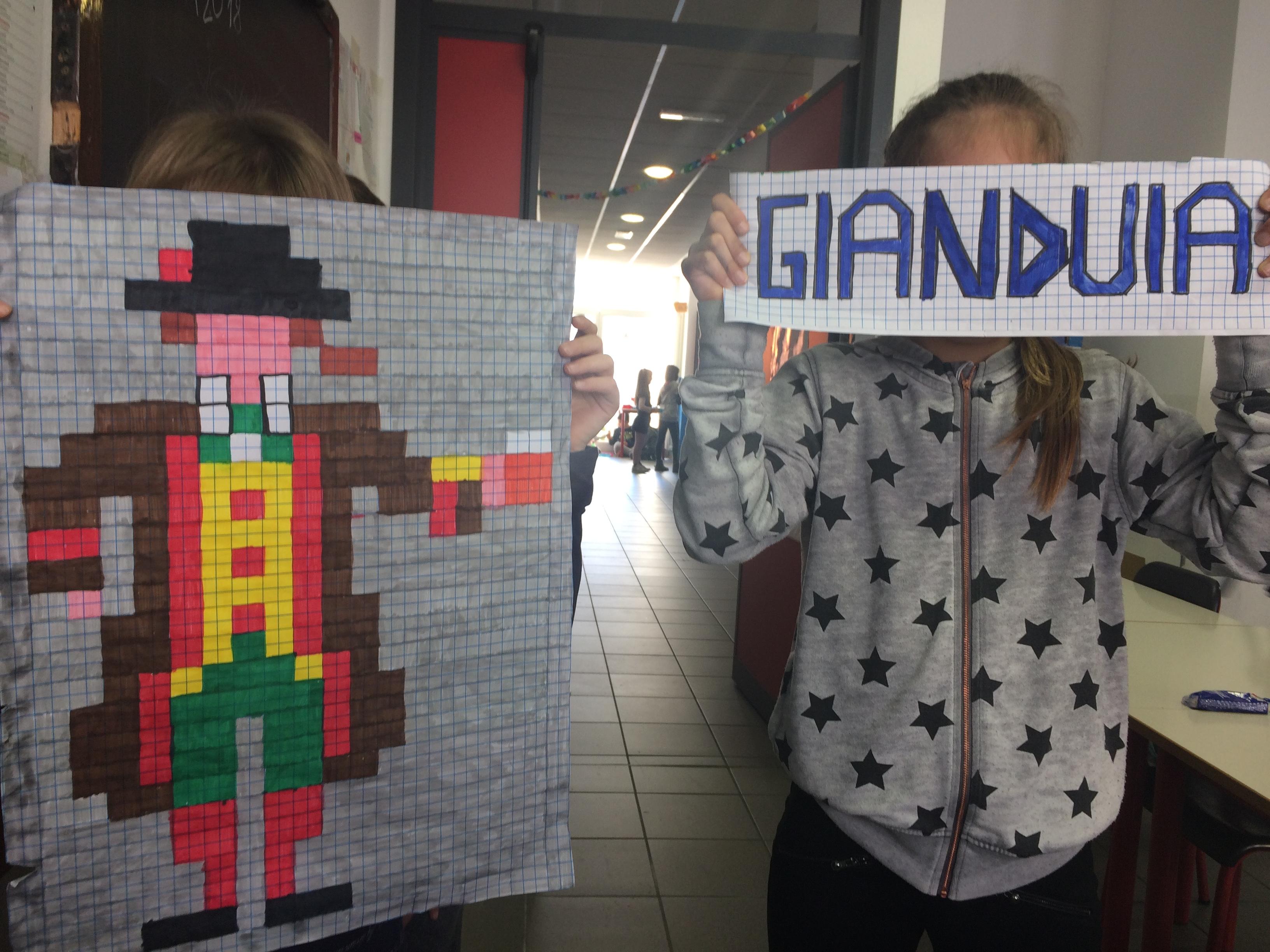 Carnevale In Pixel Art Classe 4a Maestramarta