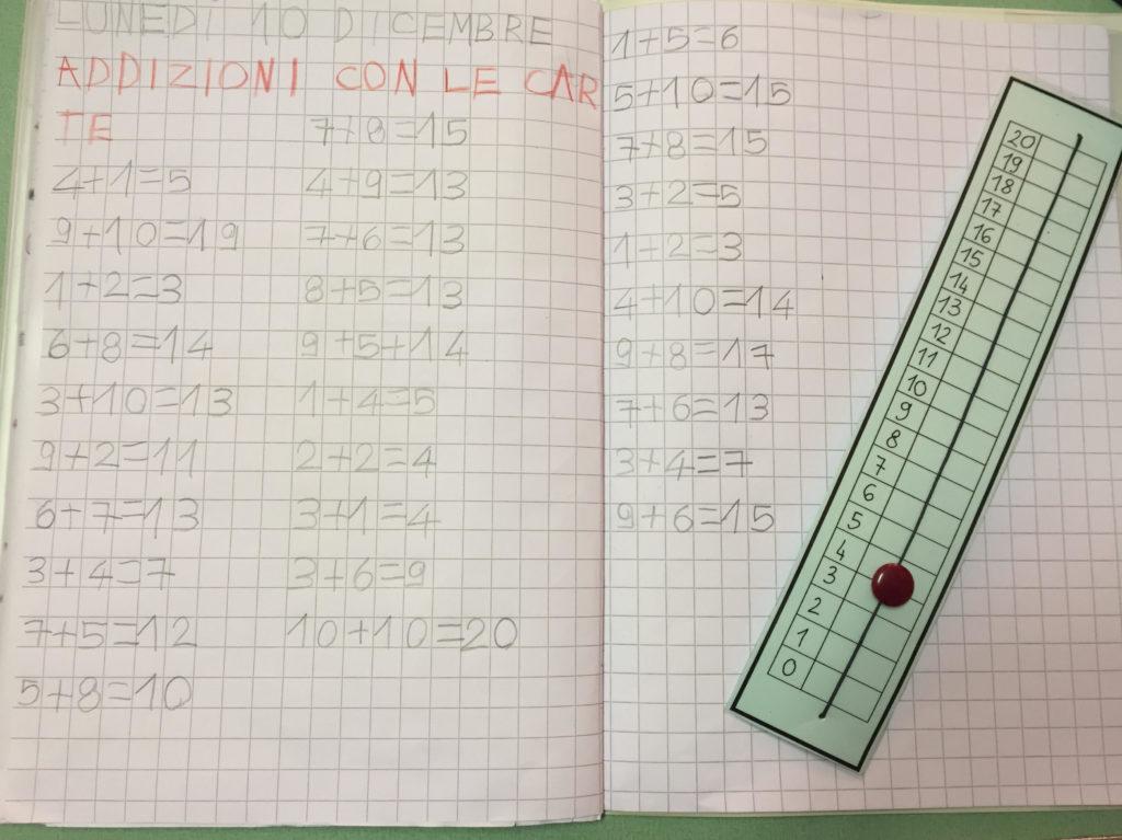 Prime addizioni con la scala dei numeri classe 1a for Linea dei numeri da stampare